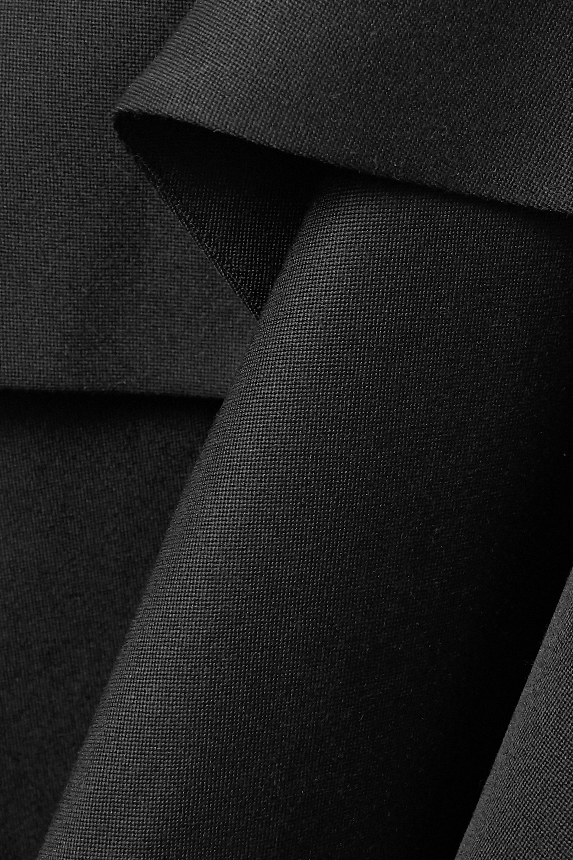 Alexander McQueen Asymmetric layered wool-crepe dress