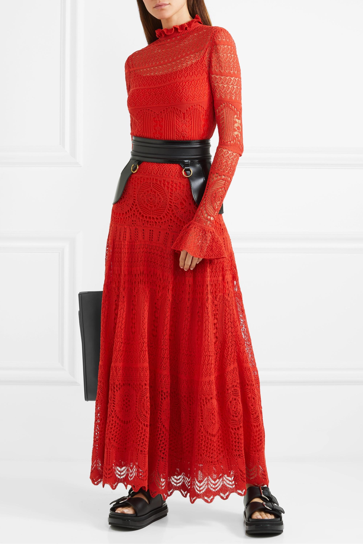 Alexander McQueen Ruffled crocheted cotton-blend lace maxi dress