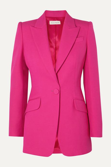 Pink Wool-blend blazer  | Alexander McQueen wTEKrq