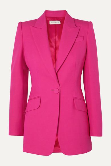 Alexander Mcqueen Blazers Wool-blend blazer