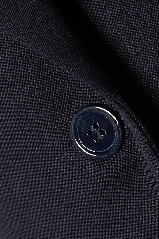 Navy Grain De Poudre Wool Blazer | Alexander Mcqueen