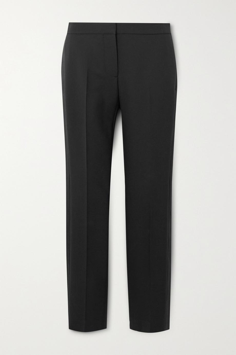 Alexander McQueen Tuxedo grain de poudre wool-blend tapered pants