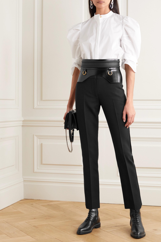 Alexander McQueen Tuxedo Hose aus Grain de Poudre aus einer Wollmischung