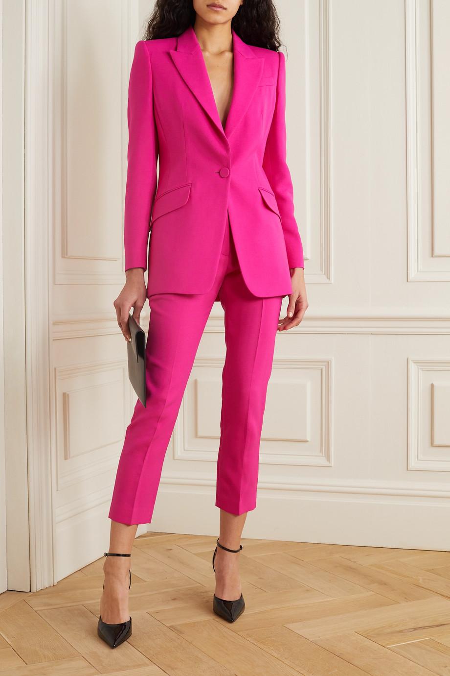 Alexander McQueen Cropped wool-blend slim-leg pants