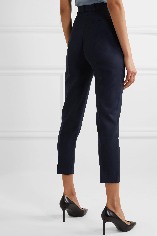 Alexander McQueen Pantalon slim raccourci en laine grain de poudre