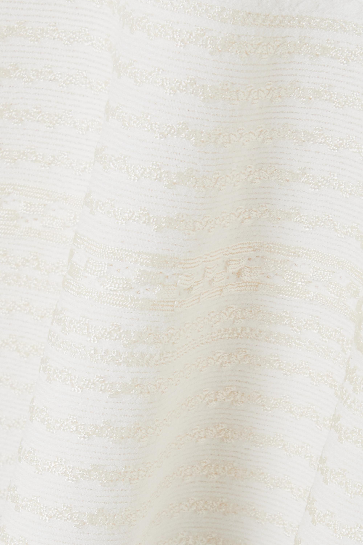 Alexander McQueen Oberteil aus Stretch-Strick mit gehäkelten Partien und Schößchen