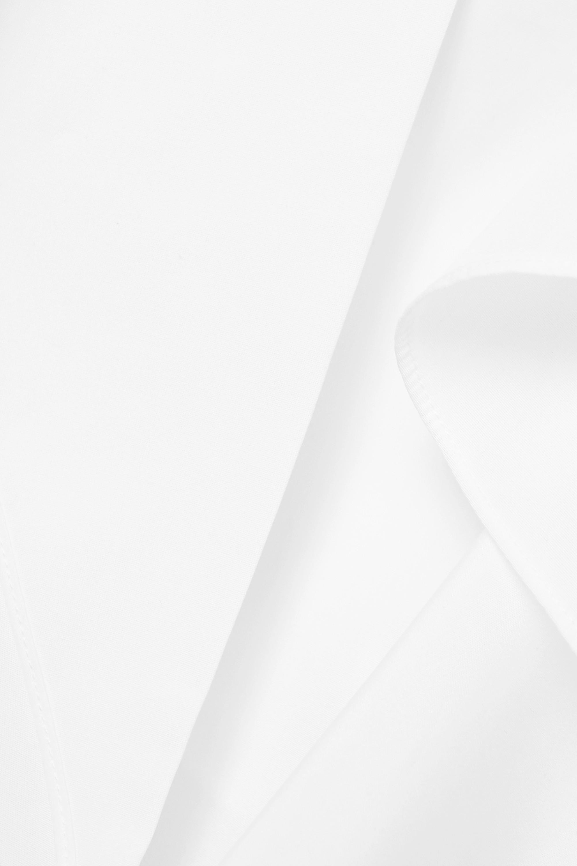 Alexander McQueen Ruffled cotton-poplin peplum blouse