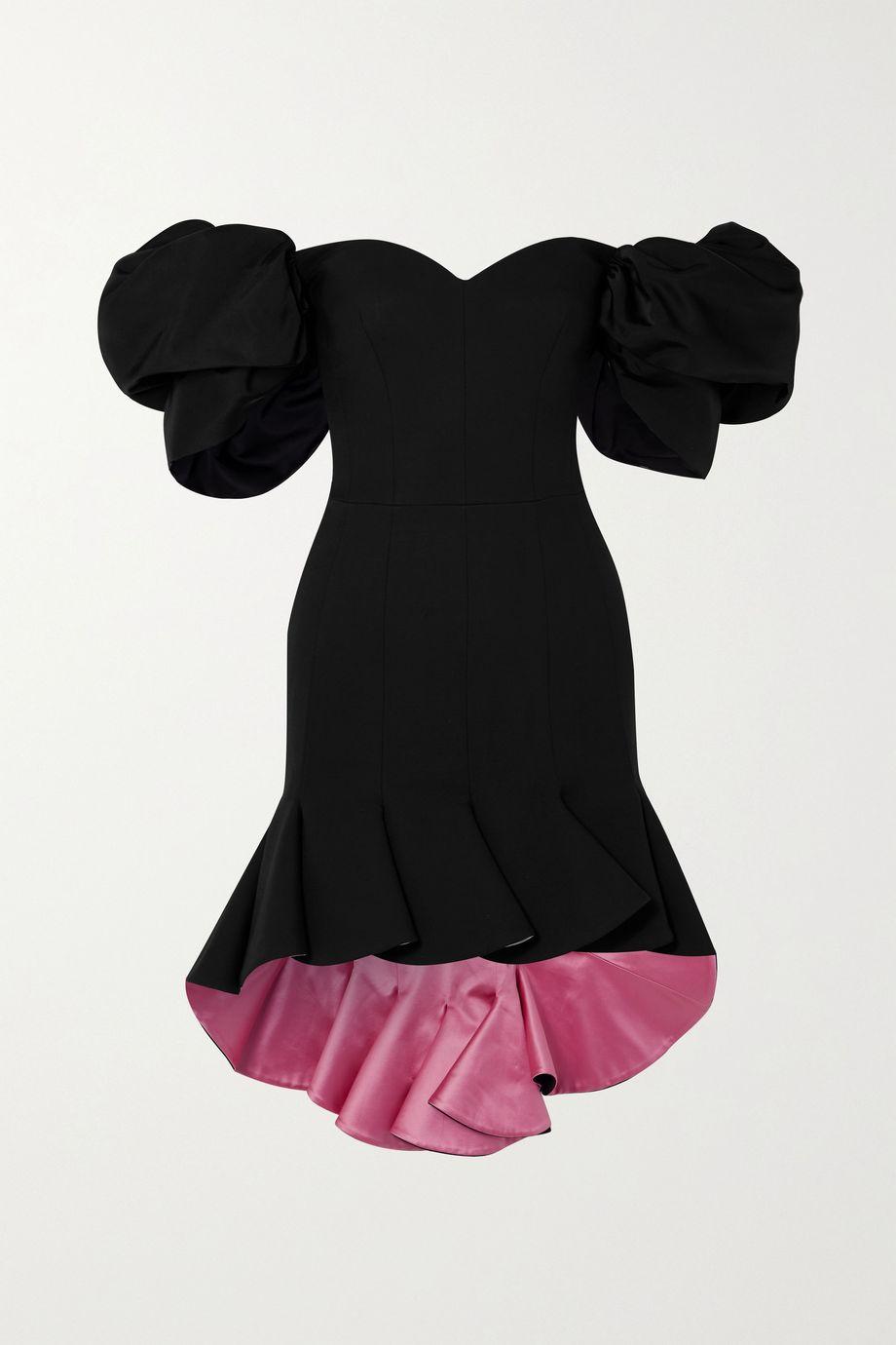 Alexander McQueen Off-the-shoulder wool-blend mini dress