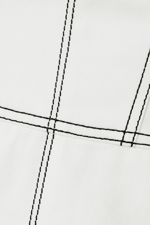 Alexander McQueen Jeanskleid mit Ziernähten