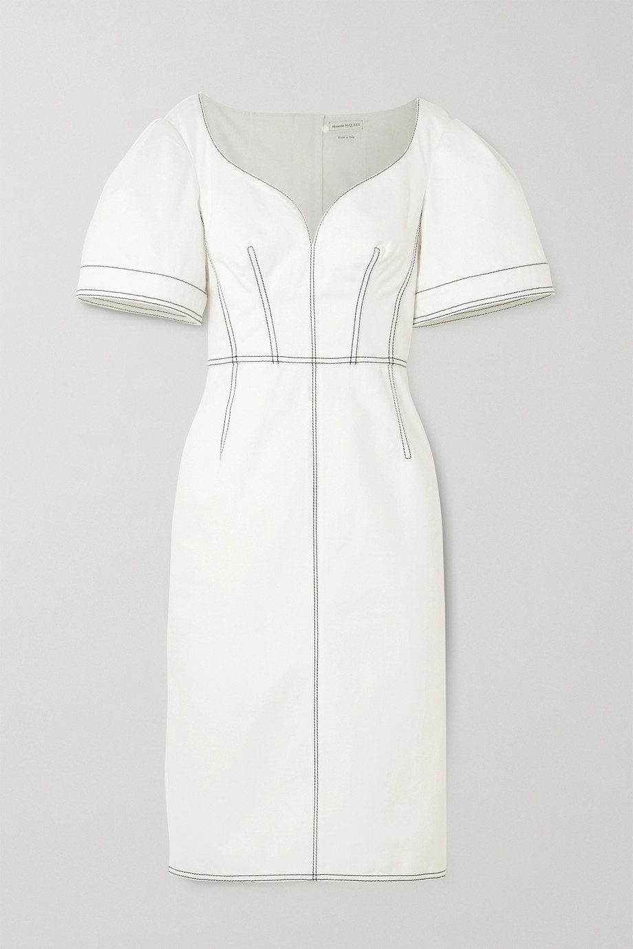 Alexander McQueen Topstitched denim dress