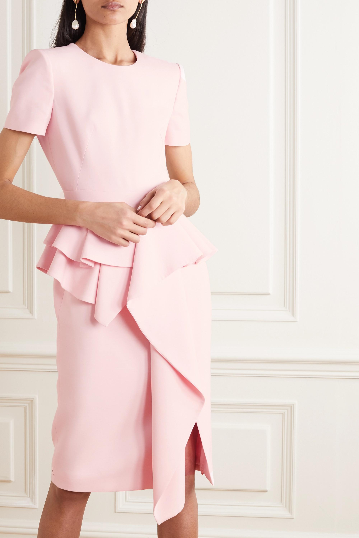 Alexander McQueen Kleid aus einer Wollmischung mit Schößchen und Rüschen