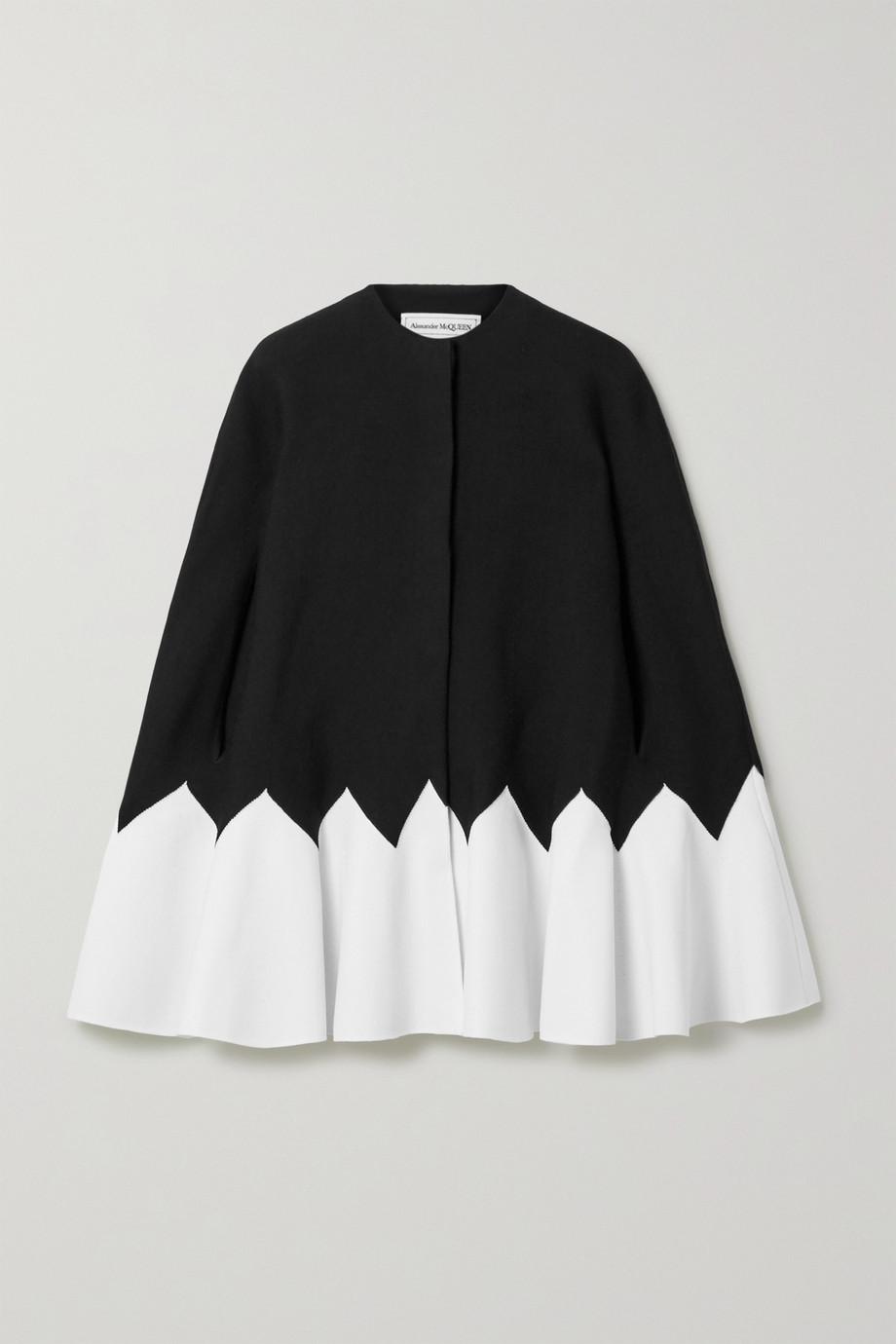 Alexander McQueen Two-tone wool-blend cape