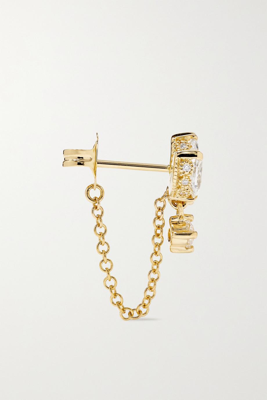 Maria Tash Lotus 18-karat gold diamond earring