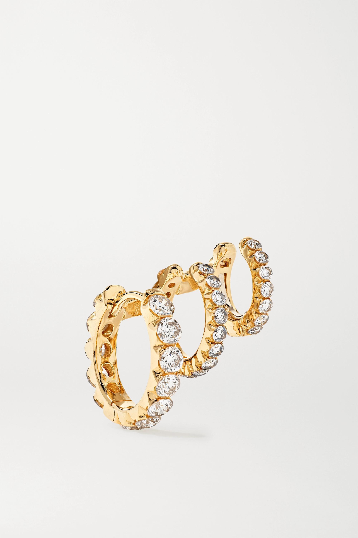 Maria Tash Eternity Creole aus 18 Karat Gold mit Diamanten