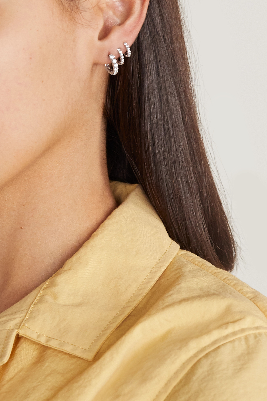 Maria Tash Eternity Creole aus 18 Karat Weißgold mit Diamanten