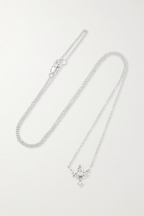 White gold Lotus 18-karat white gold diamond necklace | Maria Tash RjmVzY