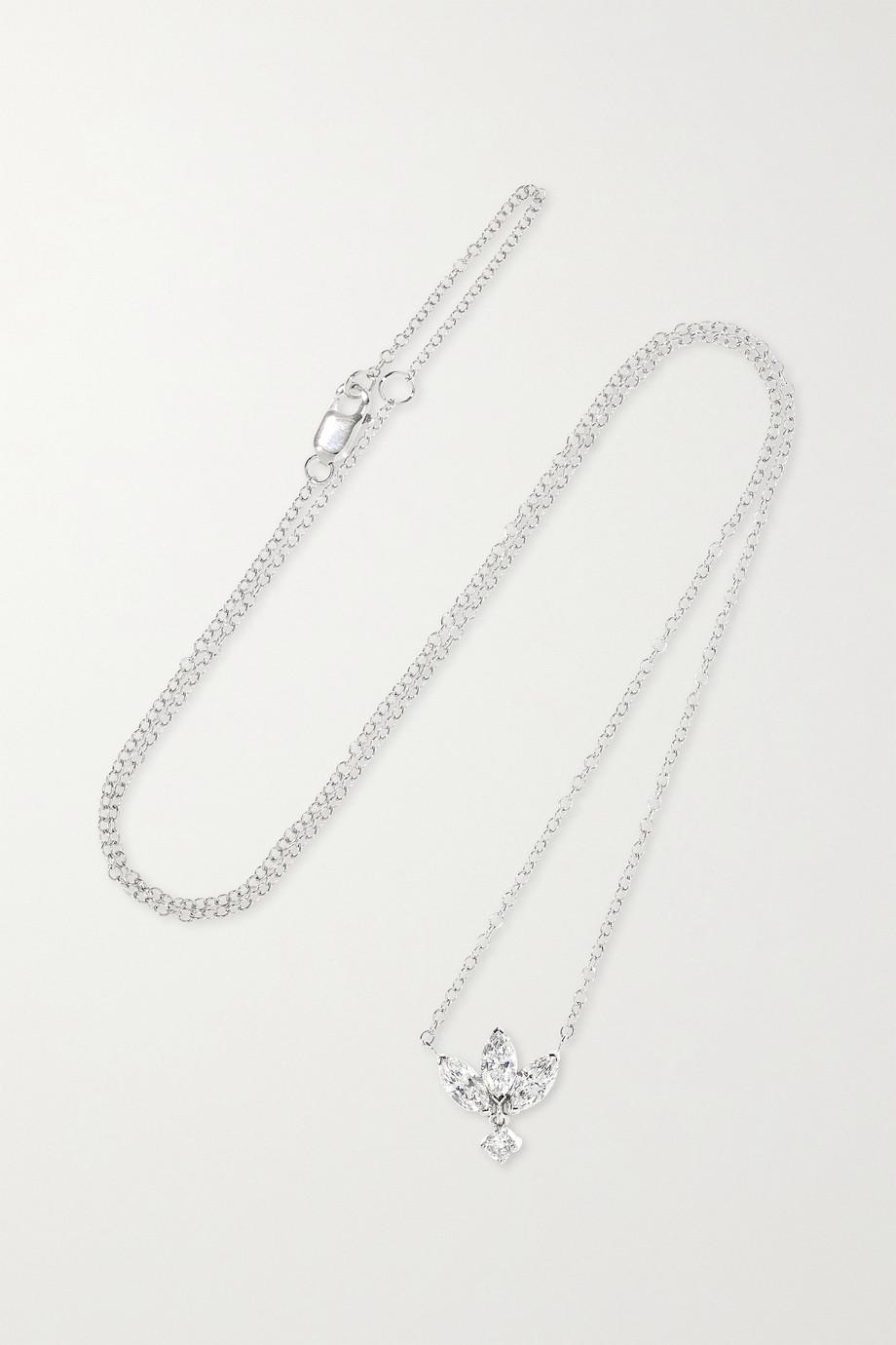 Maria Tash Lotus 18-karat white gold diamond necklace