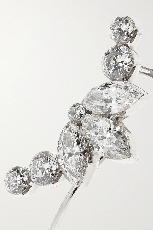 Maria Tash Lotus Garland Ohrring aus 18 Karat Weißgold mit Diamanten