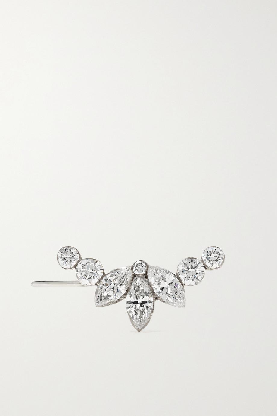 Maria Tash Lotus Garland 18-karat white gold diamond earring