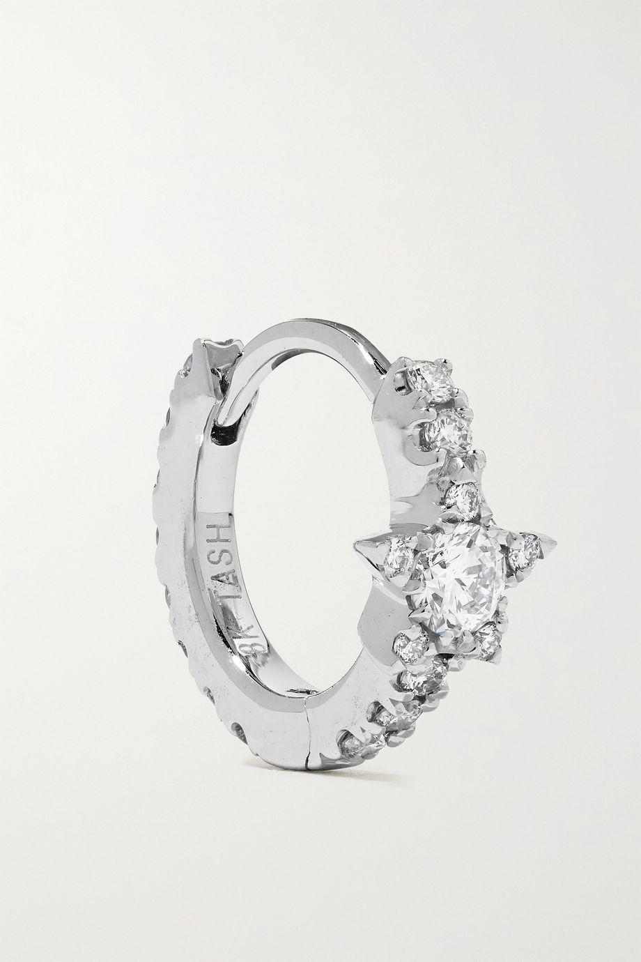 Maria Tash Star Eternity 6.5mm 18-karat white gold diamond hoop earring