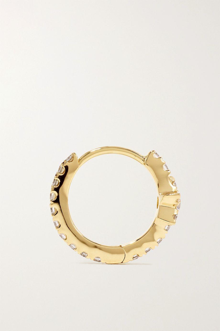 Maria Tash Star Eternity 8mm 18-karat gold diamond hoop earring