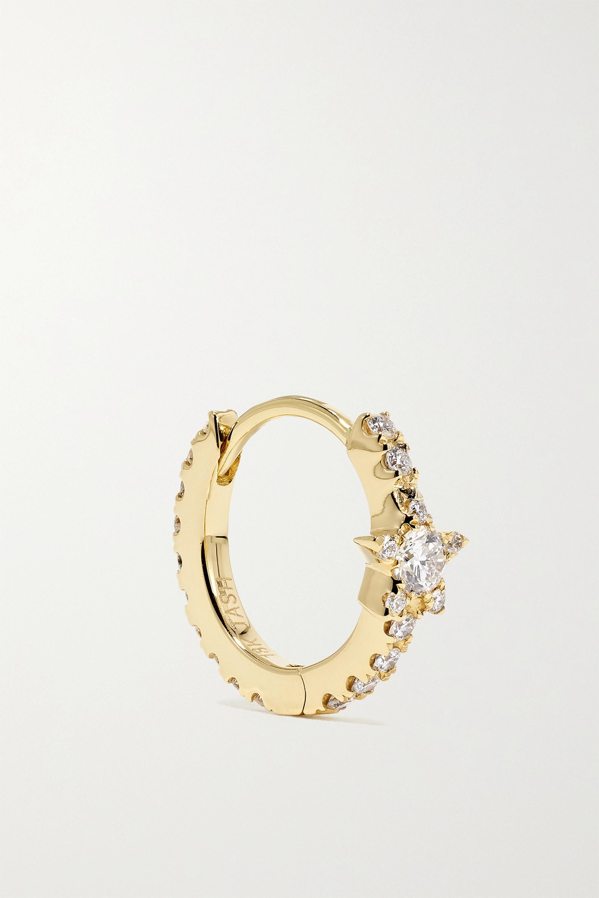 Maria Tash Star Eternity 8 mm Creole aus 18 Karat Gold mit Diamanten