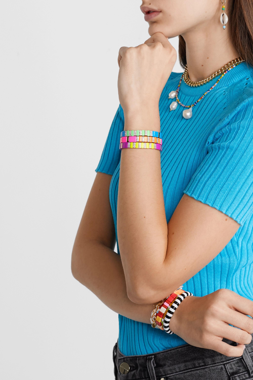 Roxanne Assoulin High Lite 搪瓷、水晶、金色手链(三条装)
