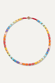 Golden Rainbow gold-tone and enamel necklace