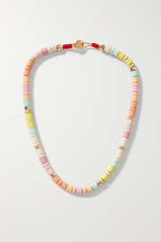 Soft Serve enamel and gold-tone necklace