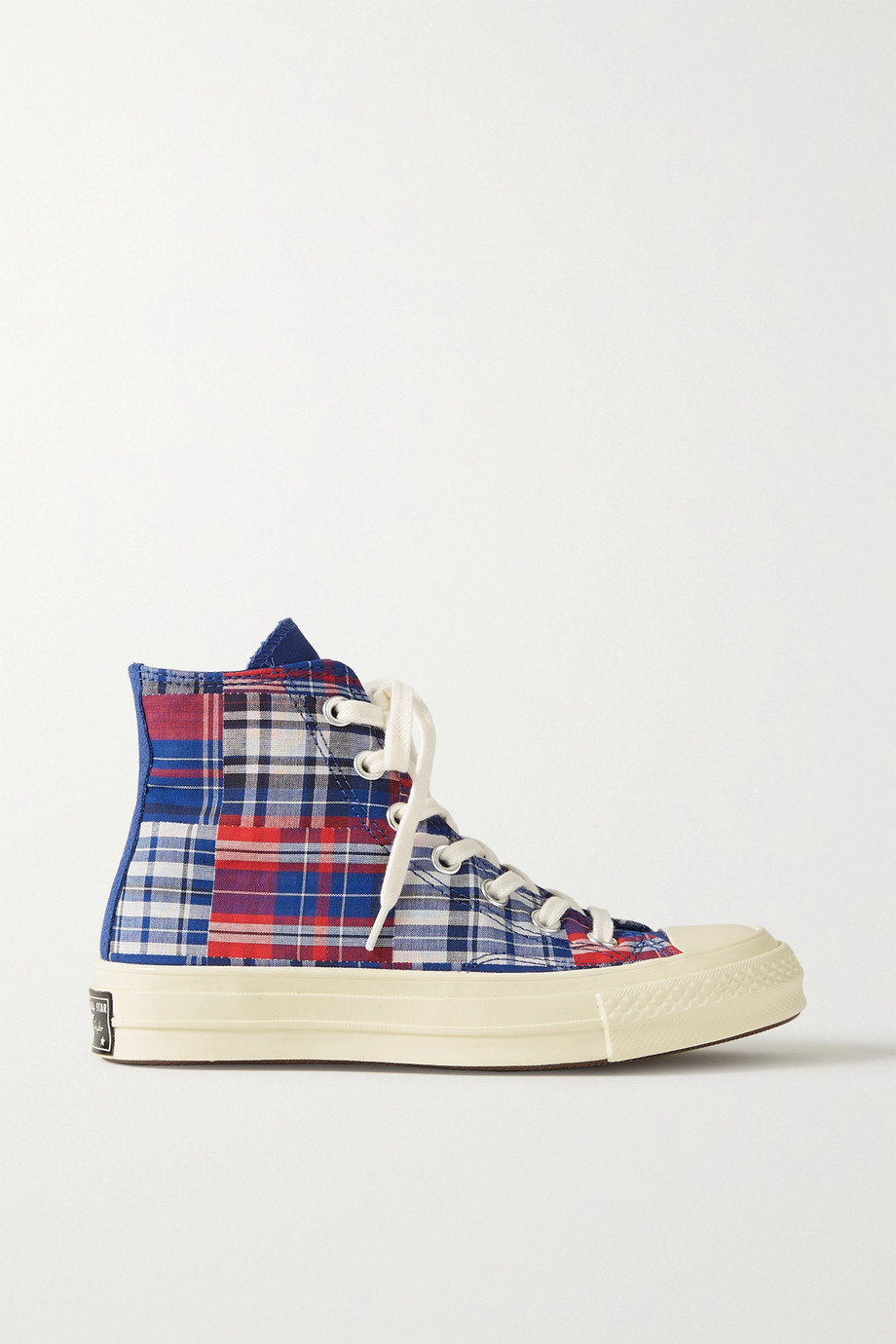 Converse Twisted Prep Chuck 70 checked canvas high-top sneakers