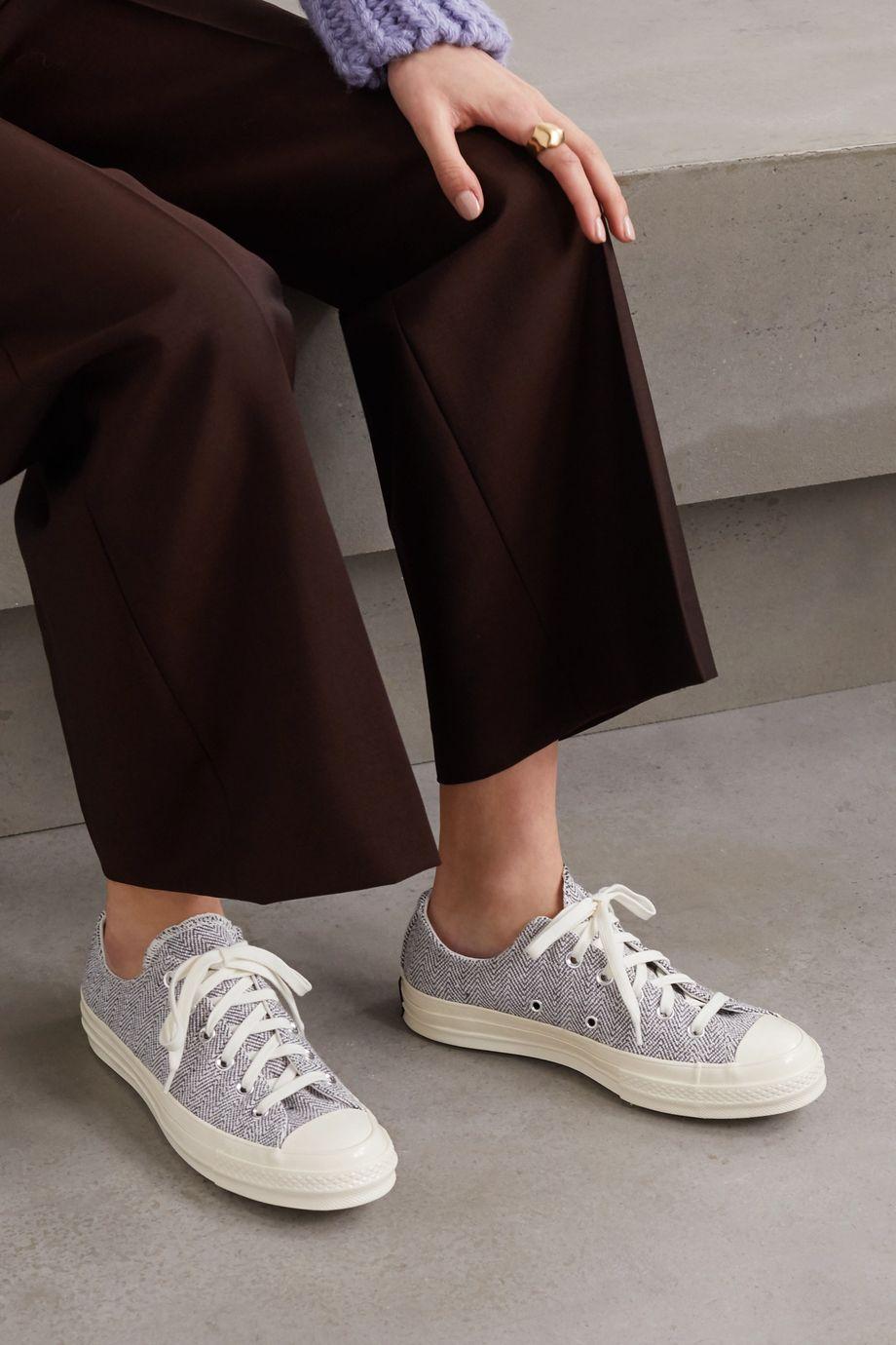 Converse Chuck 70 herringbone canvas sneakers