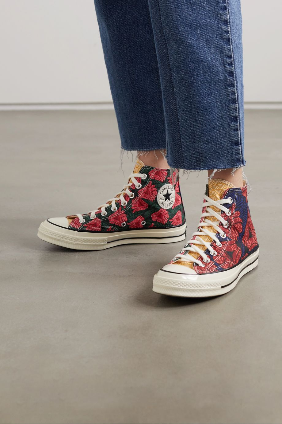 Converse Chuck 70 floral-print canvas high-top sneakers