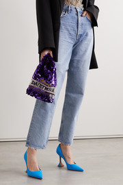 Anya Hindmarch Embellished satin tote