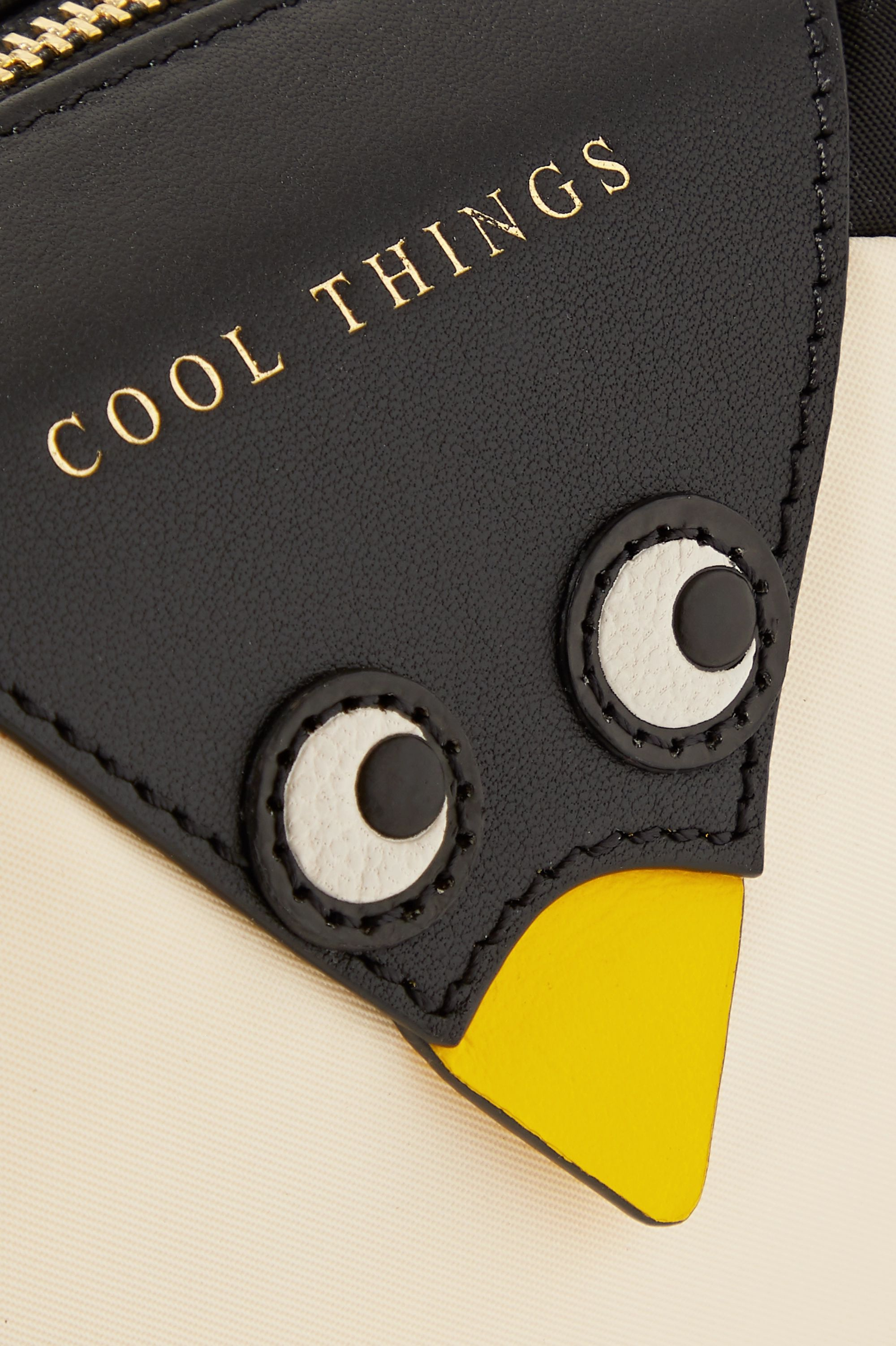 Anya Hindmarch Cool Things Penguin leather-trimmed shell cosmetics case
