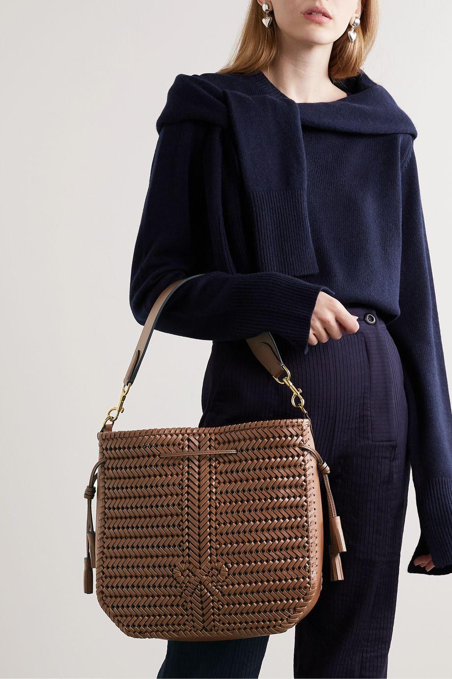 Anya Hindmarch Neeson Hobo woven leather shoulder bag