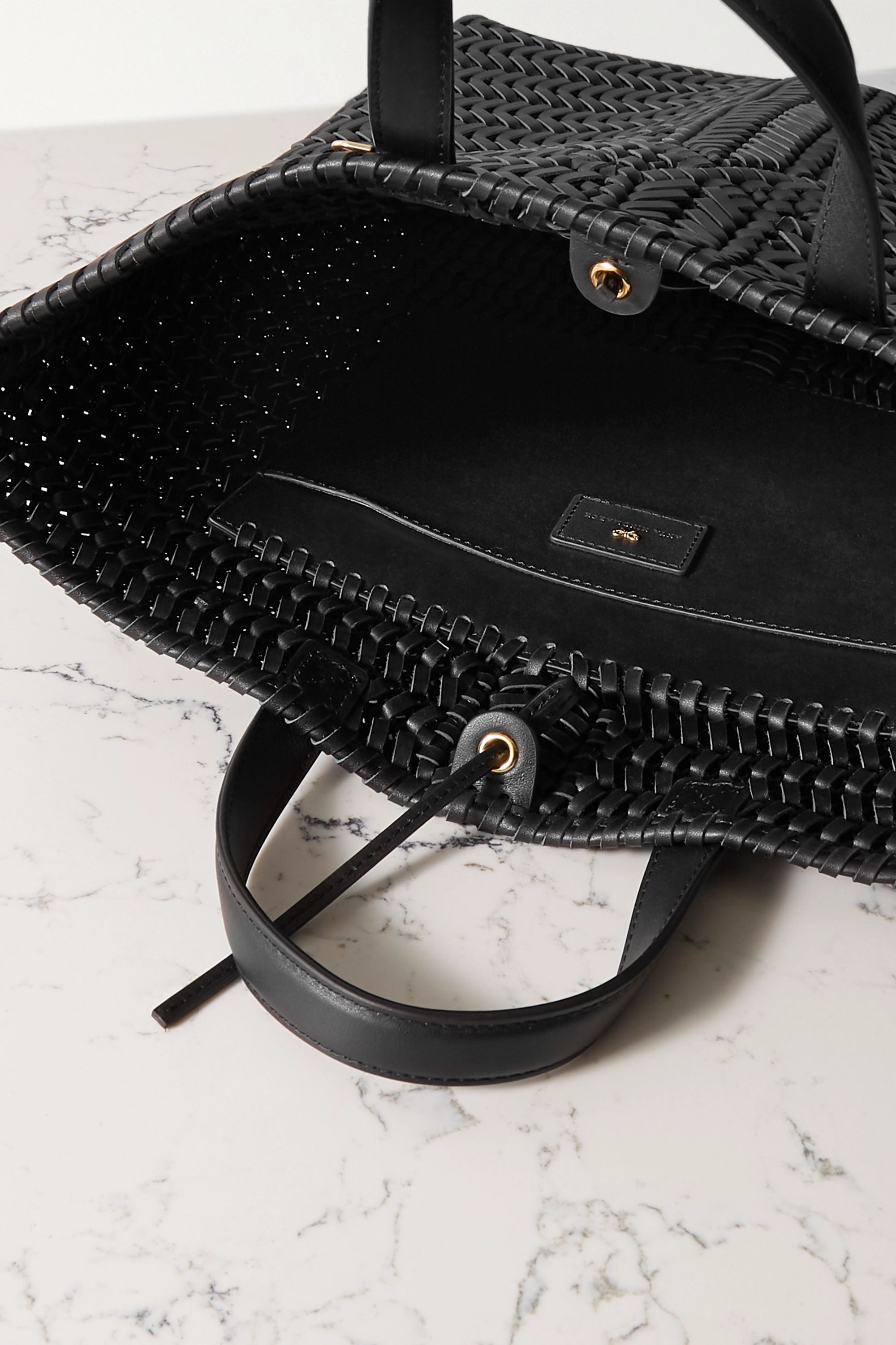 Anya Hindmarch Neeson Tall woven leather tote