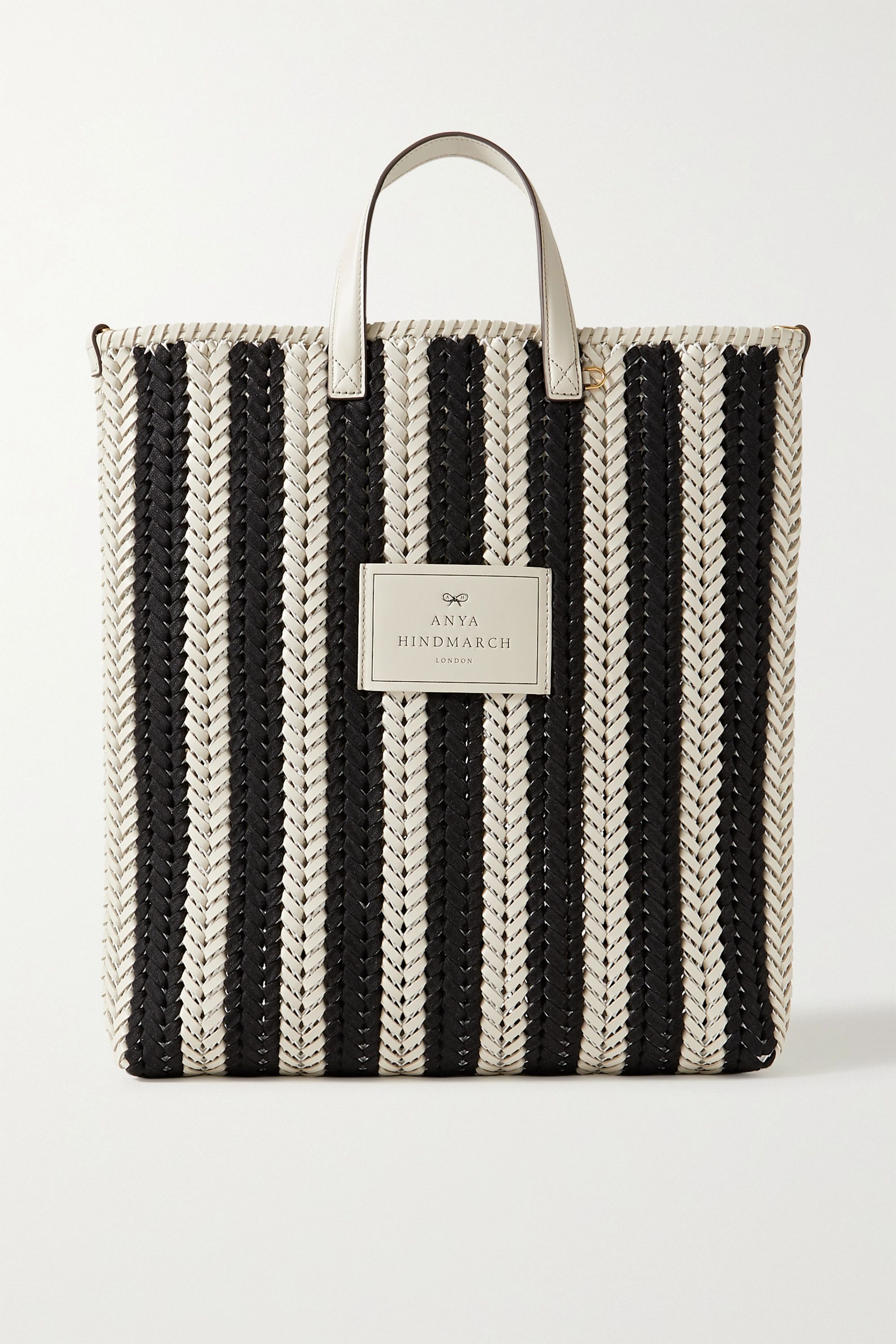 Anya Hindmarch Neeson Tall striped woven leather tote