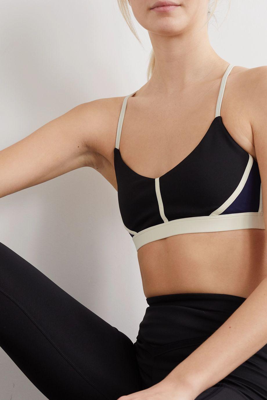 Ernest Leoty Corset paneled stretch sports bra