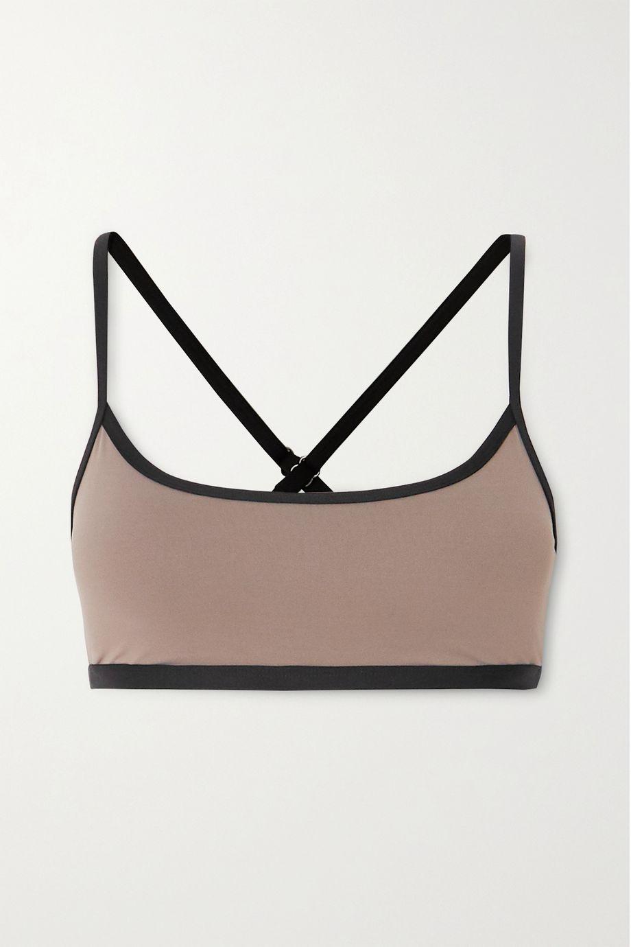Ernest Leoty Daphne paneled stretch sports bra