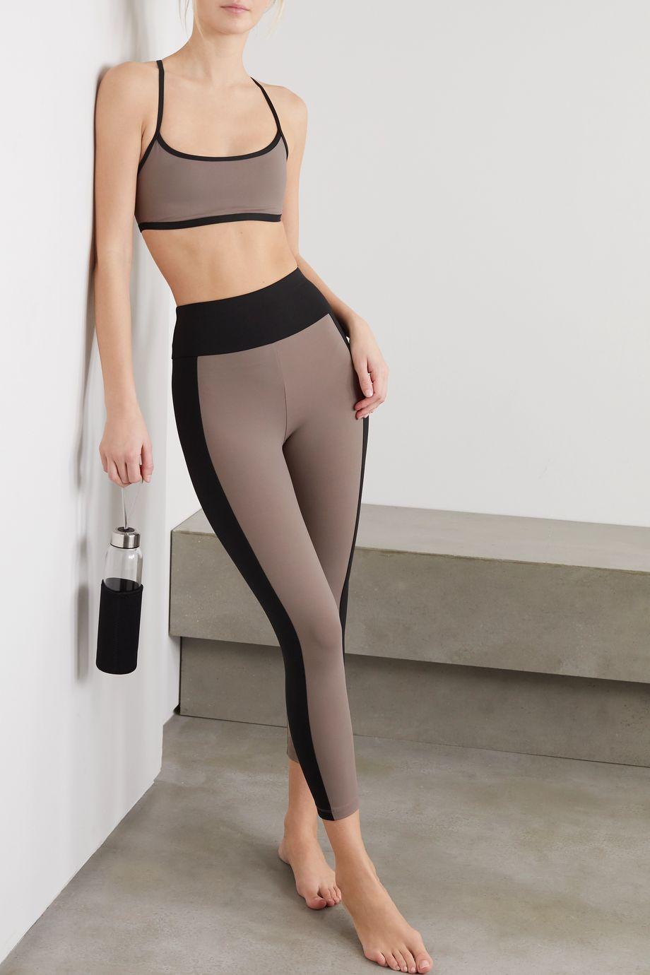 Ernest Leoty Therese paneled stretch leggings