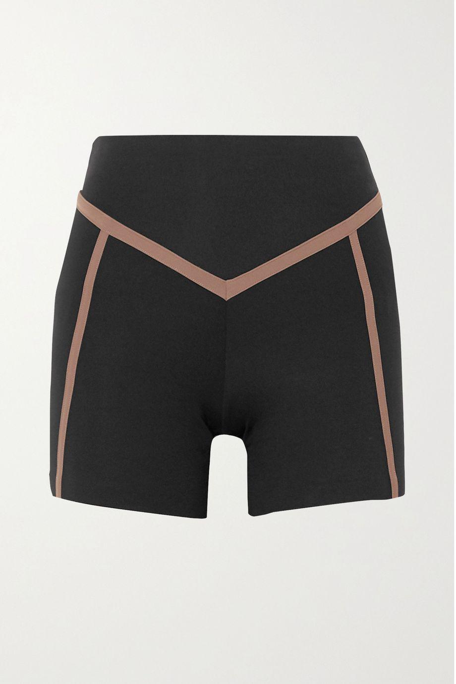 Ernest Leoty Corset paneled stretch shorts