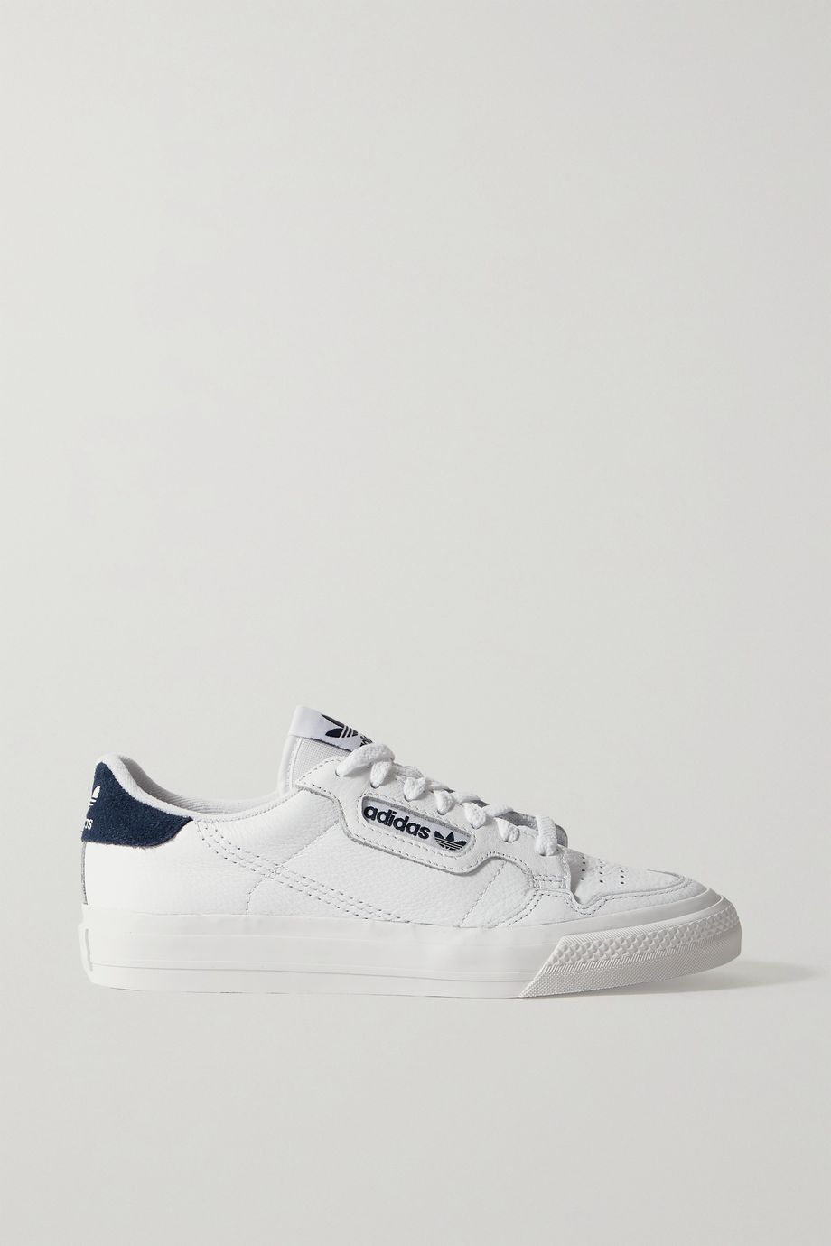 adidas Originals Continental Vulc suede-trimmed leather sneakers