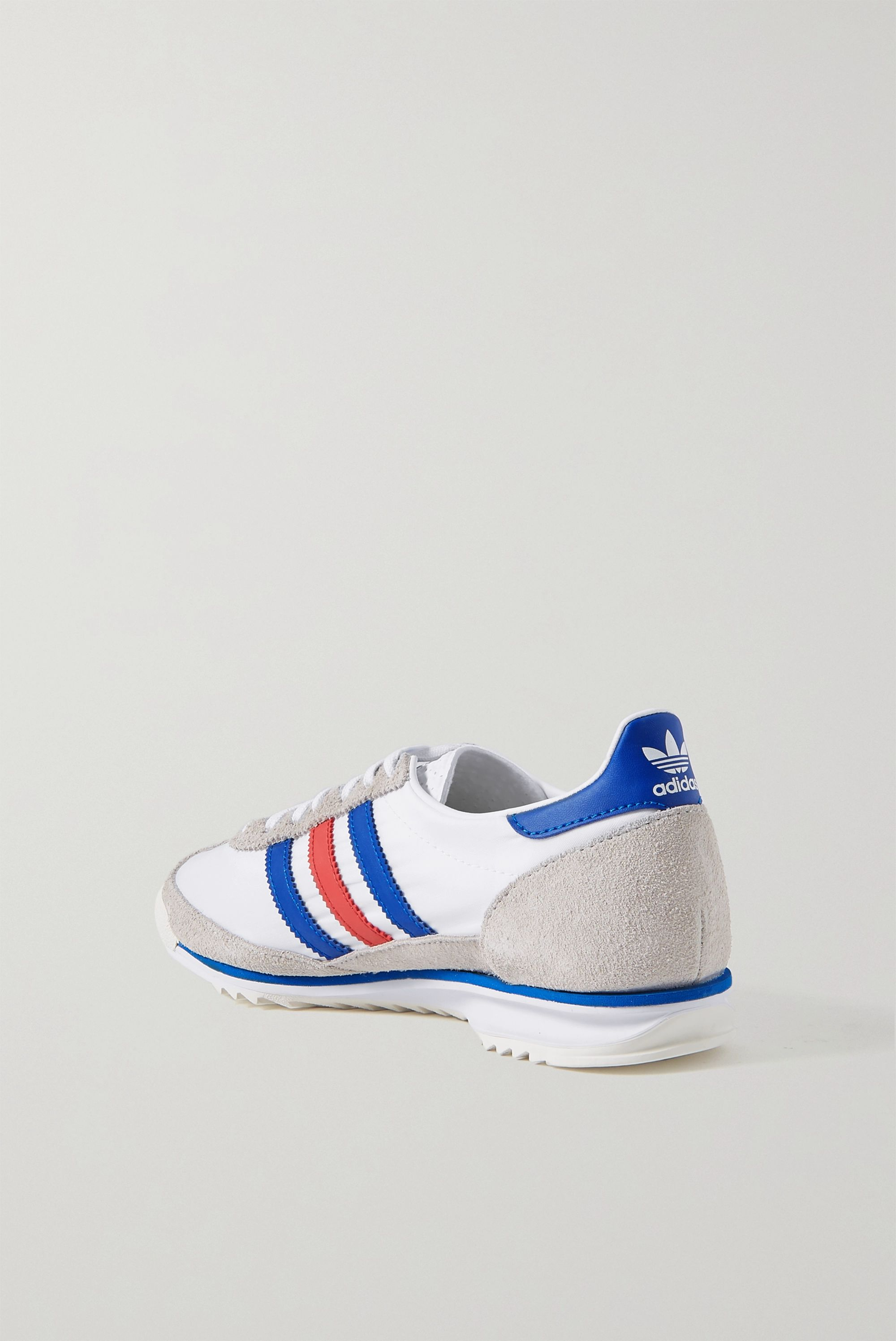 adidas Originals SL 72 suede and leather-trimmed shell sneakers