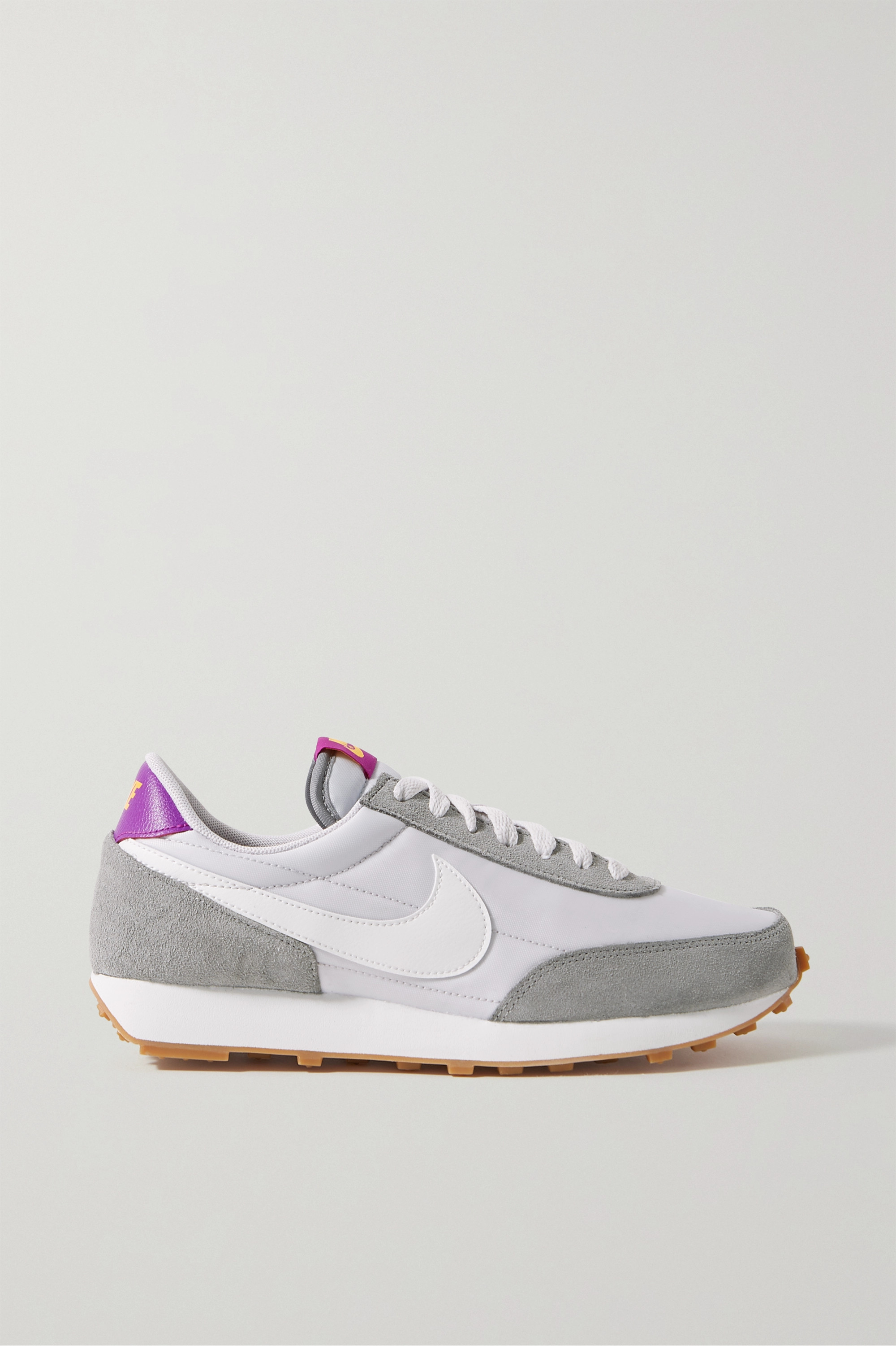 Light gray Daybreak shell, suede and