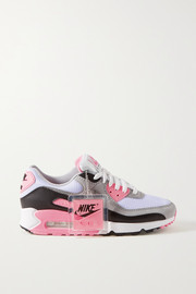 Nike Air Max 90 suede, mesh and leather sneakers