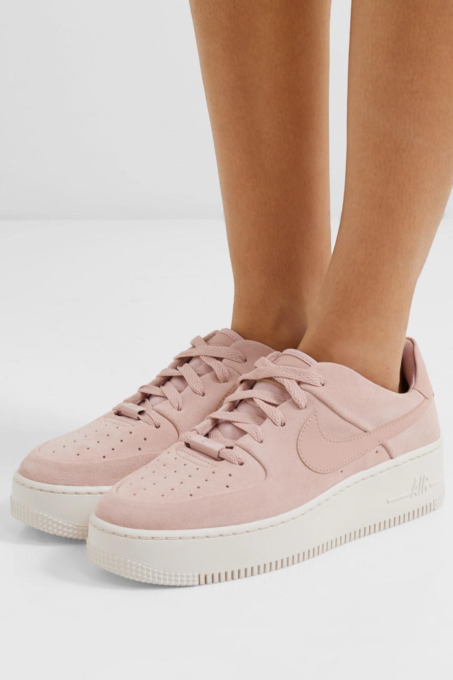 Nike Air Force 1 Sage suede sneakers