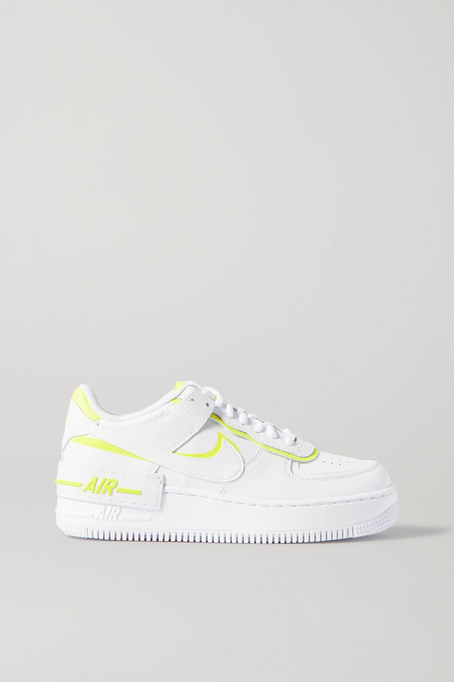 Nike Air Force 1 Shadow neon leather sneakers