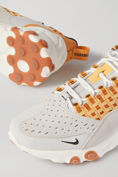 Nike | React Sertu Sneakers aus Leder, Nubukleder und Canvas