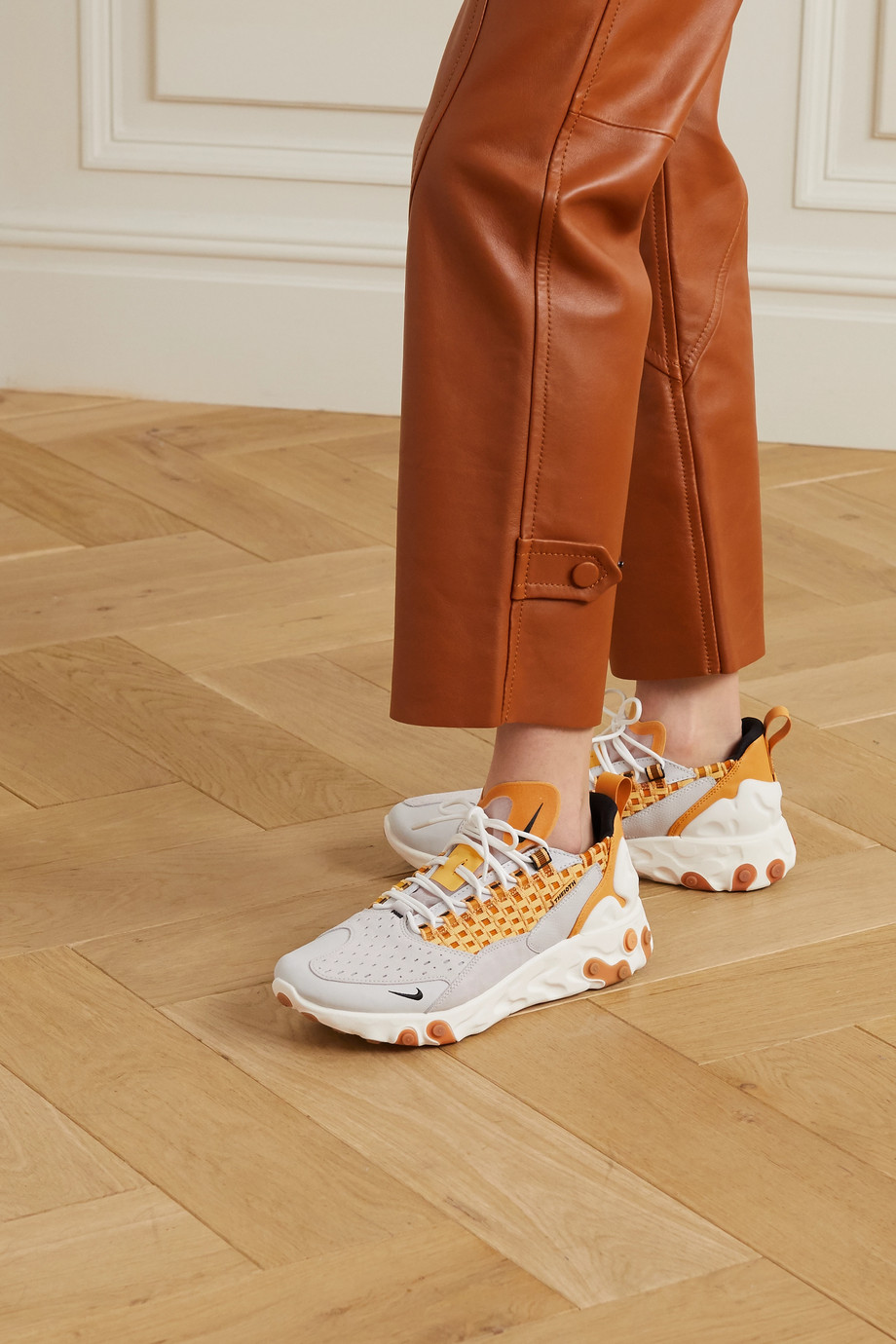 Nike React Sertu leather, nubuck and canvas sneakers