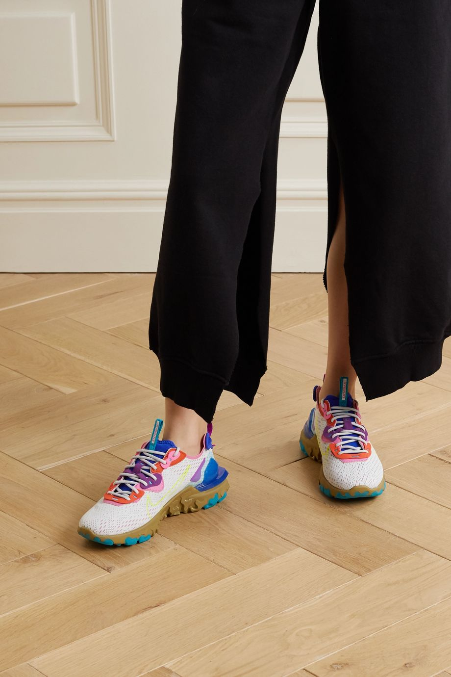 Nike React Vision V2 mesh, felt and faux leather sneakers